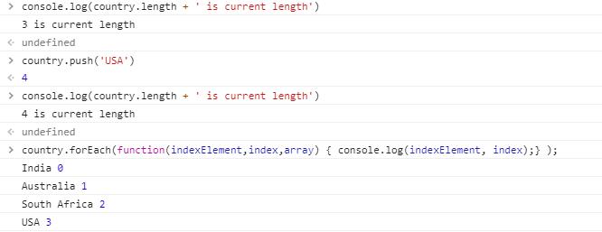 array method output 2