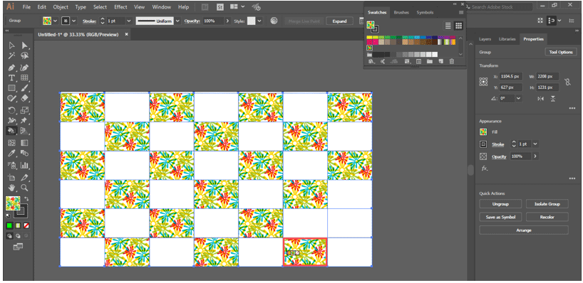 beautiful pattern with grid