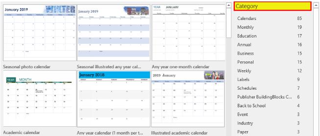 Calendar Category