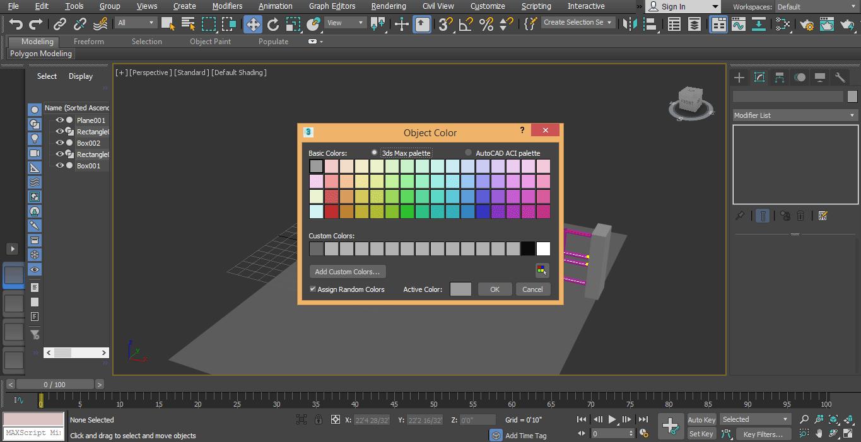 change color 3ds max