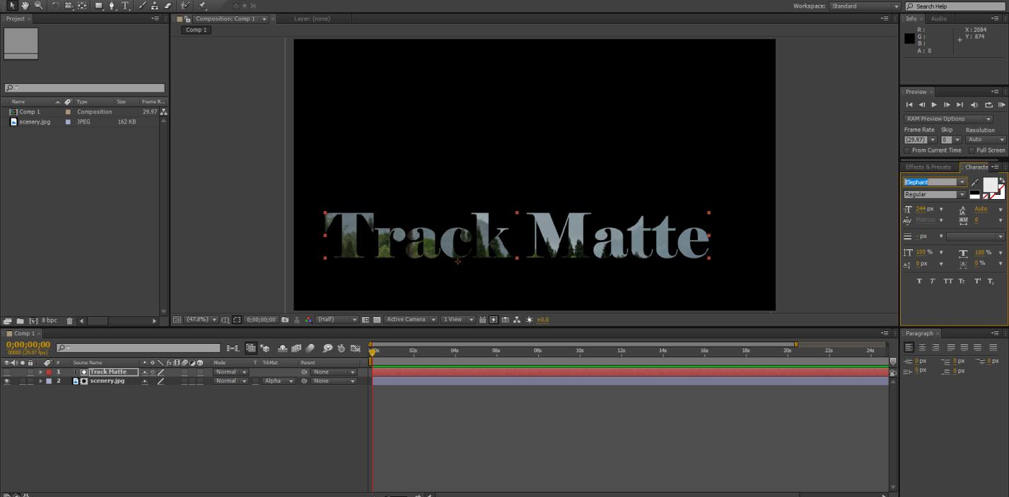 Track Matte Text 2