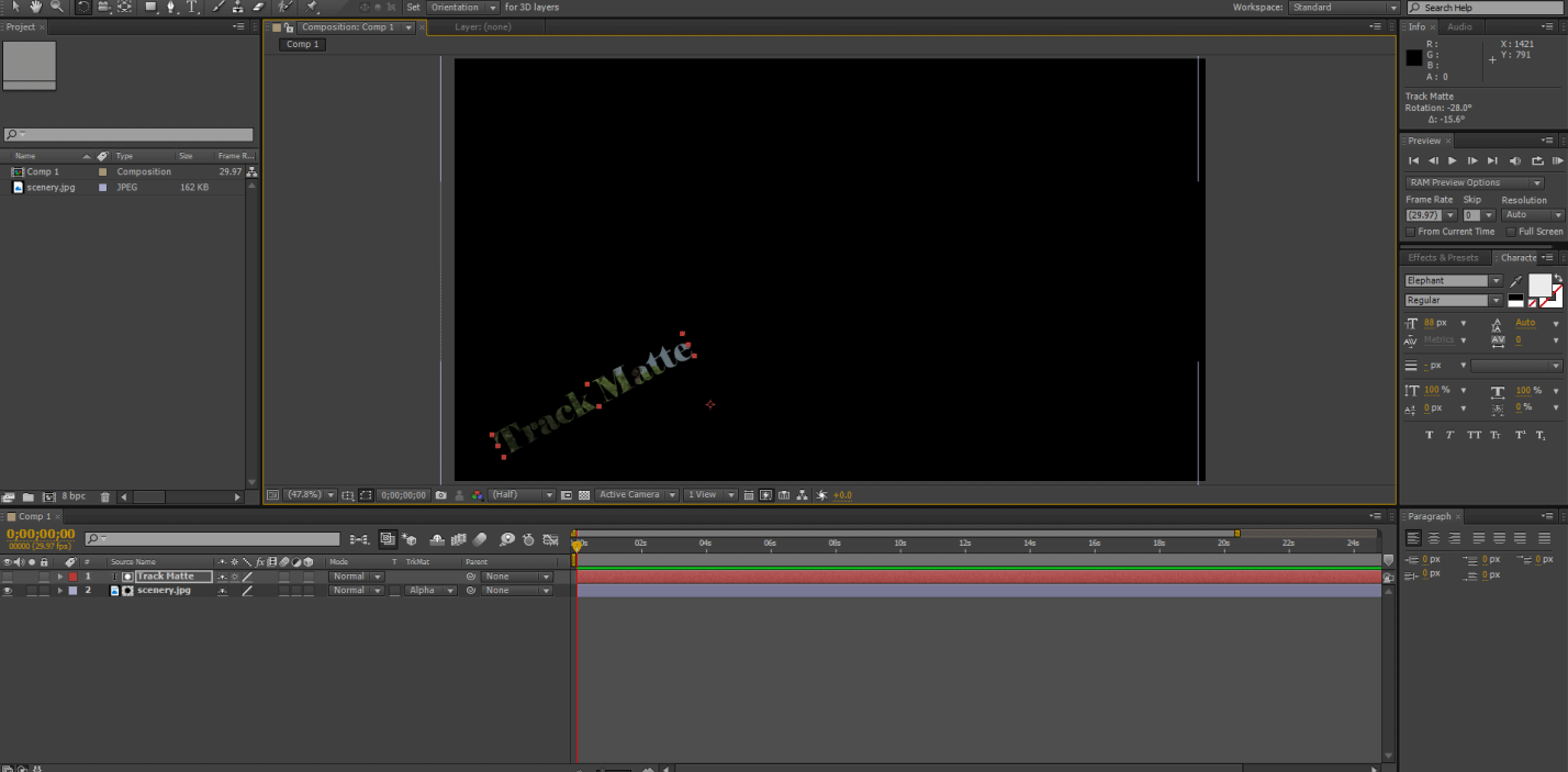 change position rotation in after effects