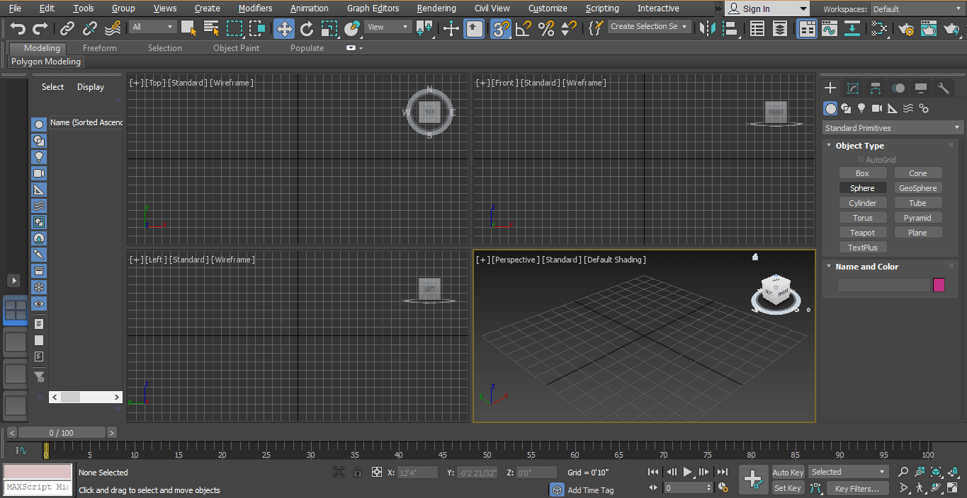 common panel (Animation in 3ds Max)
