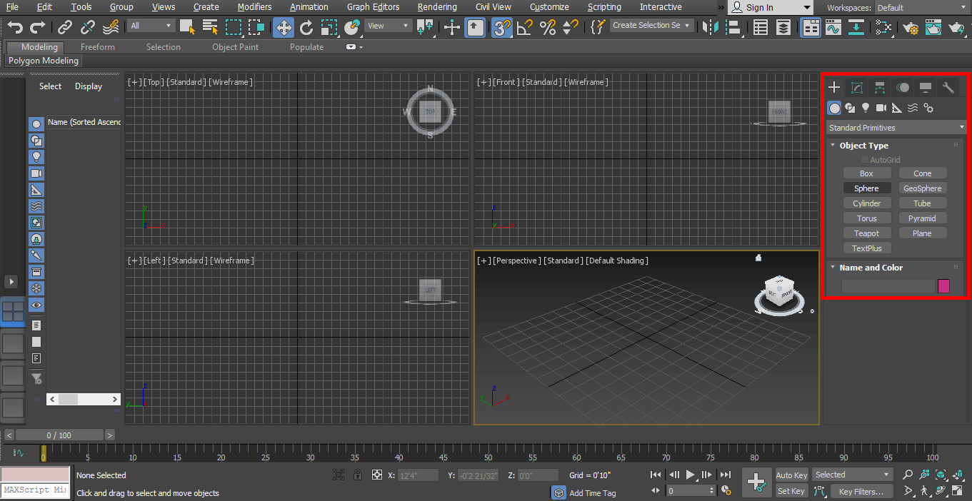 common panel (Rendering in 3ds Max)