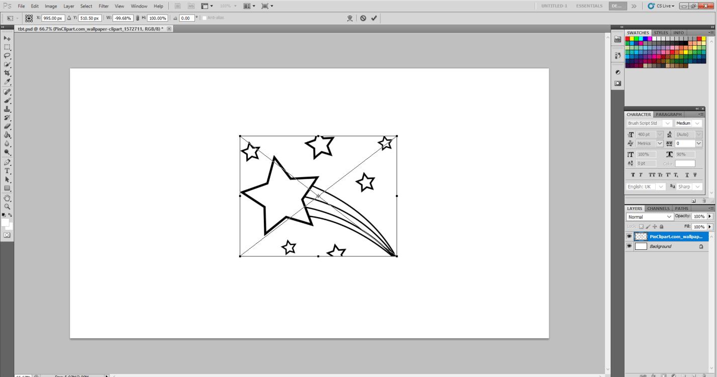 TBT Sticker inText Effects in Photoshop 4