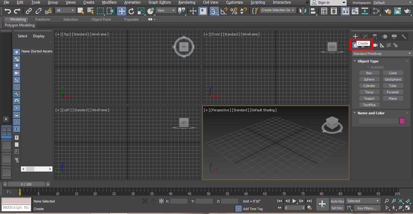 create tab option (Rendering in 3ds Max)