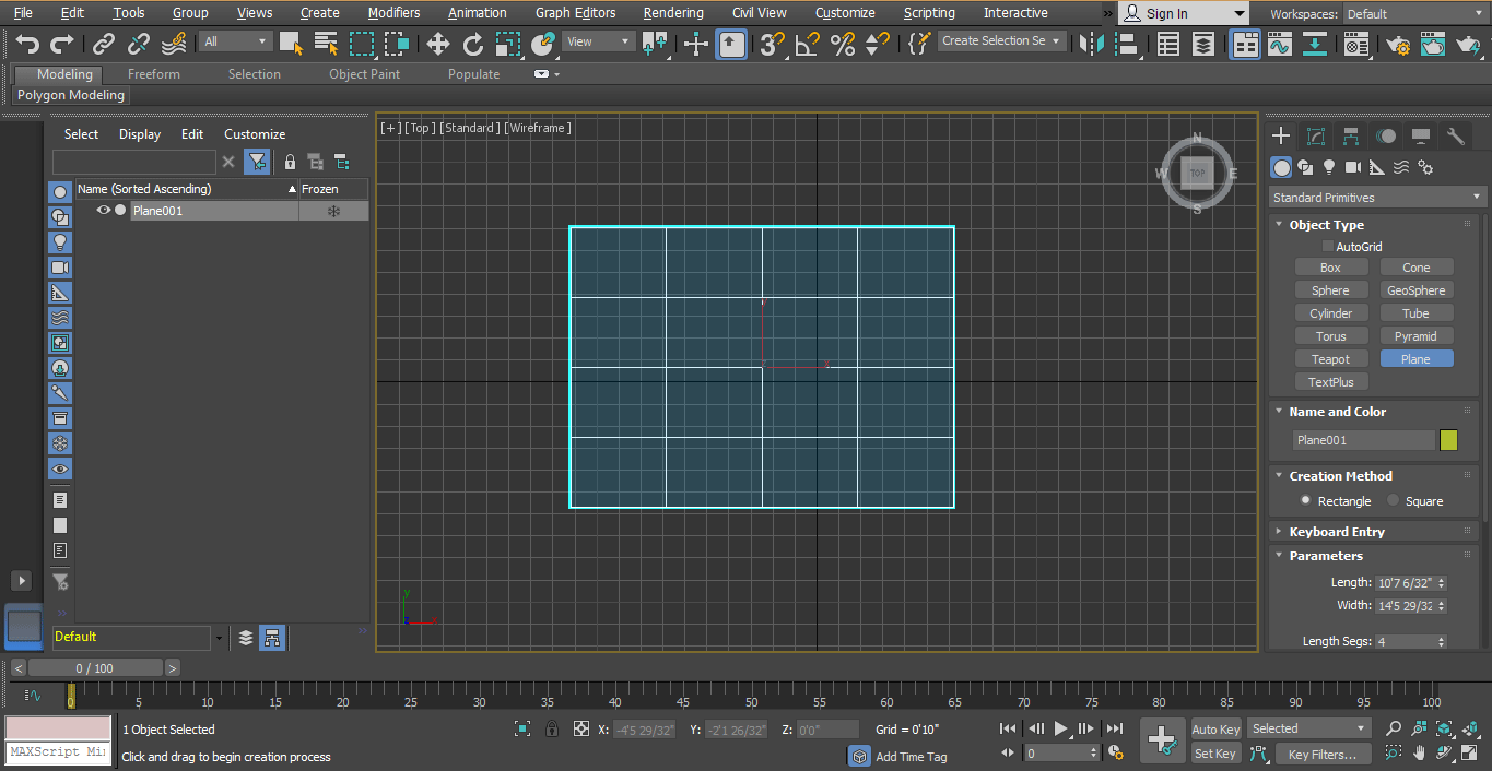 draw plane (Rendering in 3ds Max)