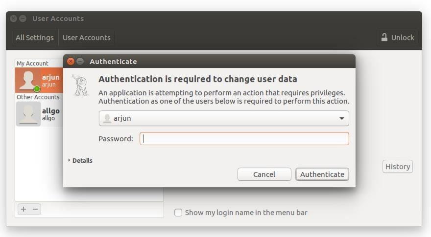 enter incorrect password