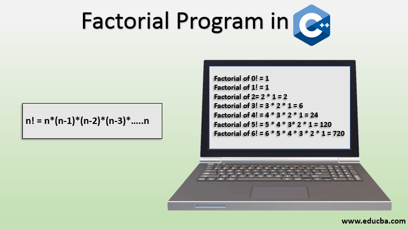 factorial program in c++