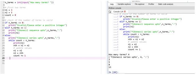 Fibonacci Series in Python 6