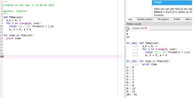 Fibonacci Series in Python7