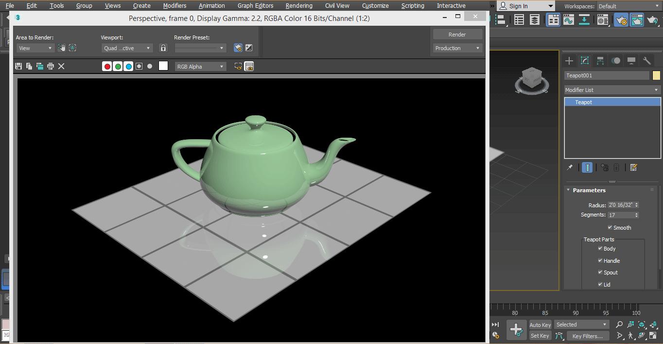 final image in rendering