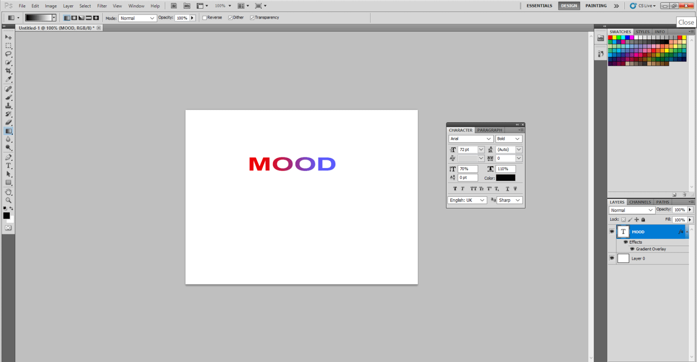 final mood sticker (text effect in photoshop)