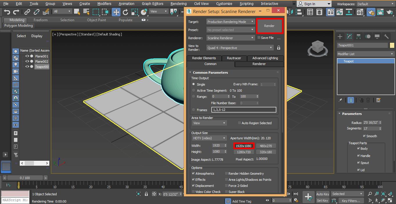 high resolution render
