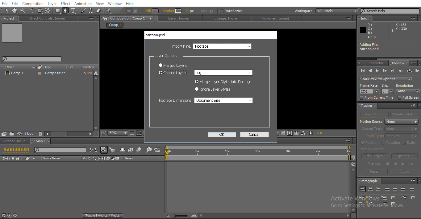 import in after effects - 2D After Effects Animation