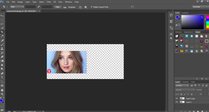 canvas size (smart object in photoshop)