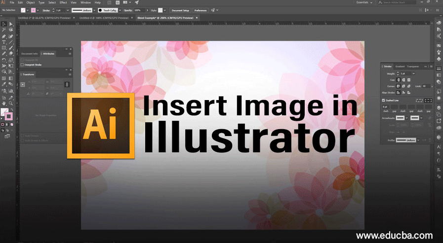 Insert Image in Illustrator