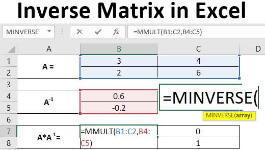 inverse matrix in excel
