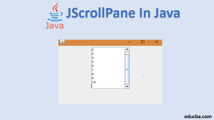 jscrollpane in java
