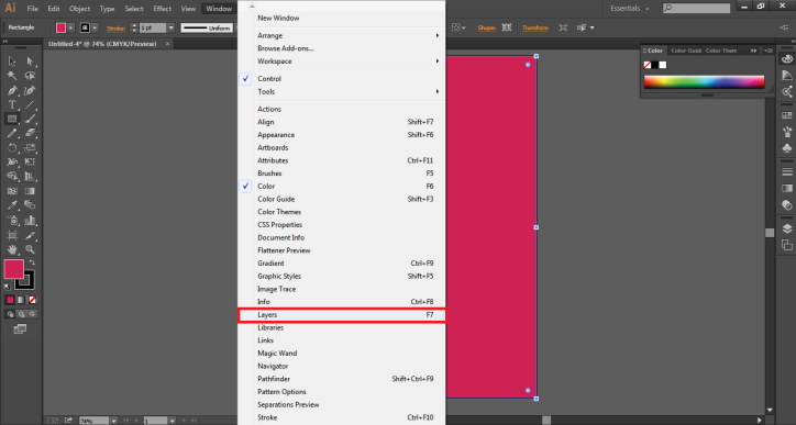 layer panel (change background color in after effects)