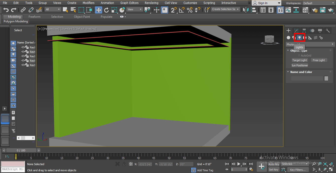 light option (Mental Ray in 3ds Max)