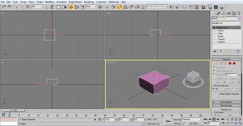 modify box (3ds Max Architecture)