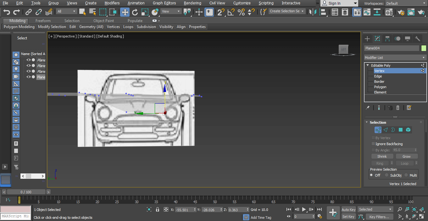 move pivot (Car Modeling in 3ds Max)