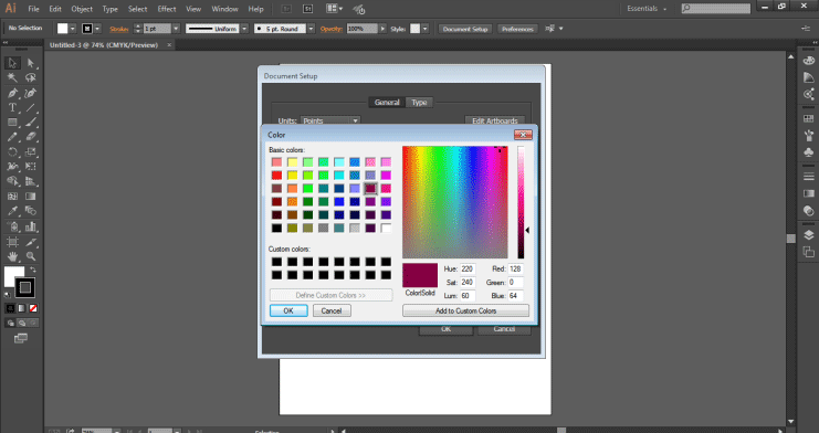 Color palete (Change Background Color in Illustrator)