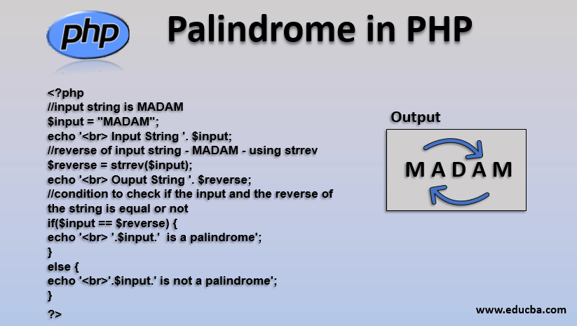 palindrome in php