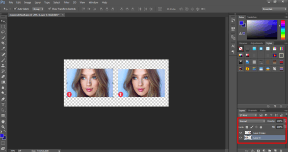 raster layer (smart object in photoshop)