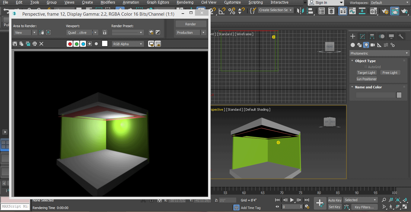 preview render (Mental Ray in 3ds Max)