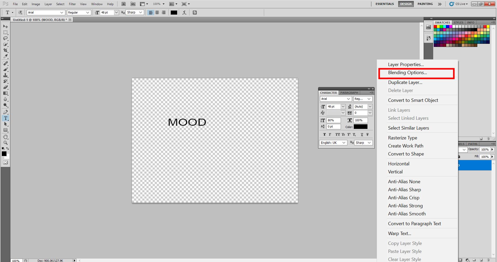 Adding Mood Sticker in Photoshop 7