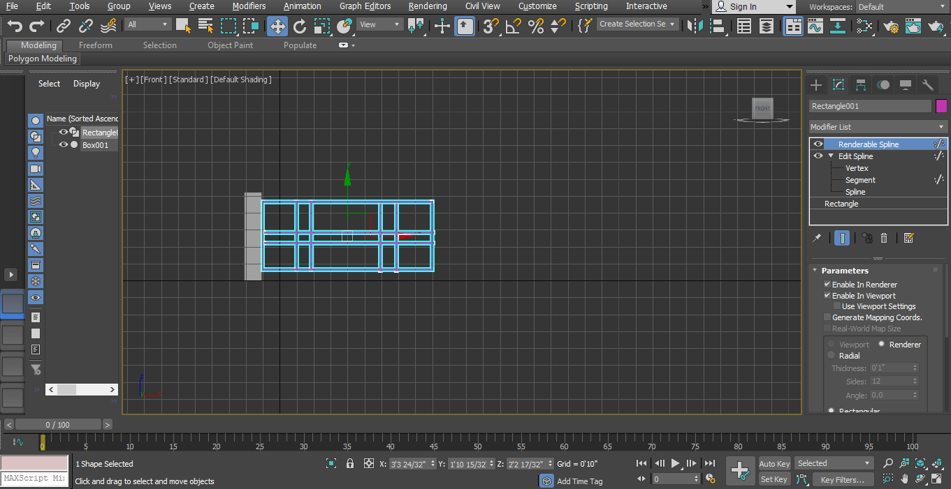 select gate pillar (Animation in 3ds Max)