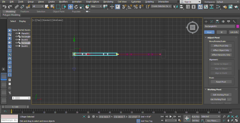 select pivot and rotate
