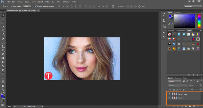 same layer (smart object in photoshop)