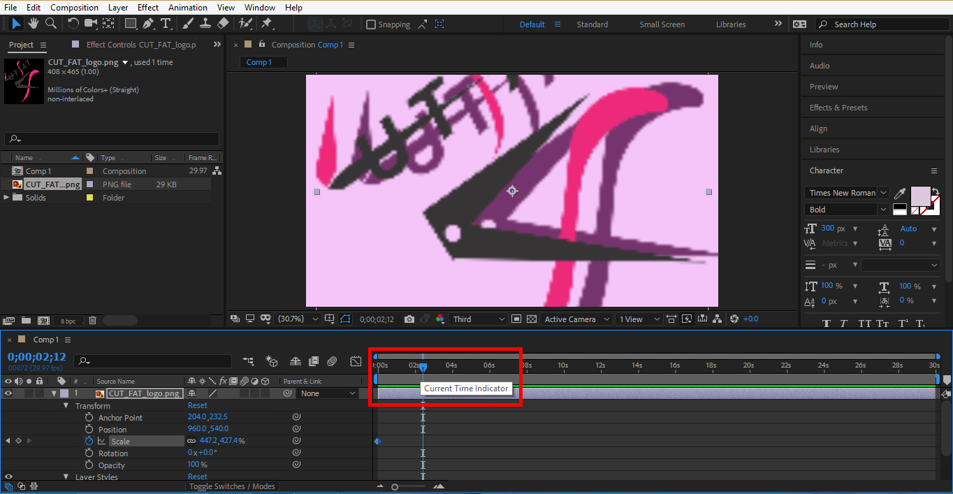 set time in logo (Logo Animation in After Effects)