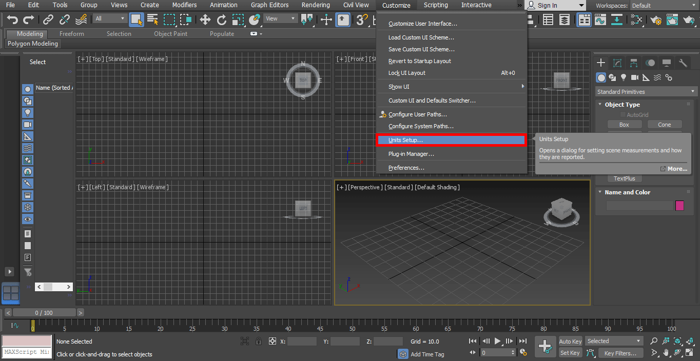 setup option (Rendering in 3ds Max)