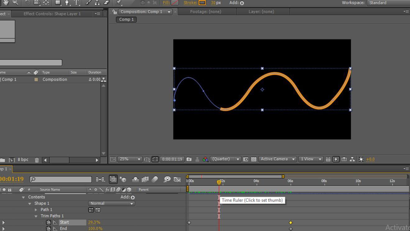 start animation