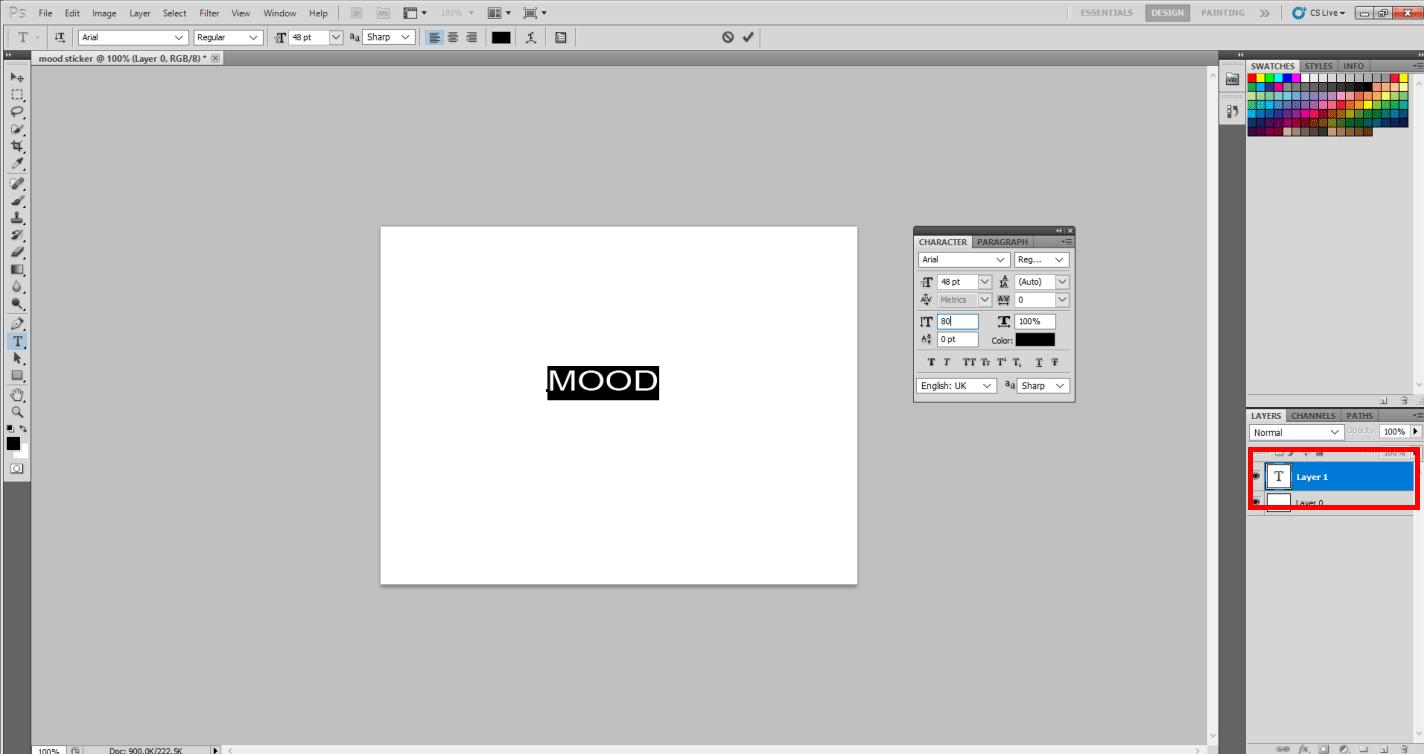 Adding Mood Sticker in Photoshop 5