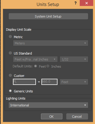 unit setup box (Car Modeling in 3ds Max)
