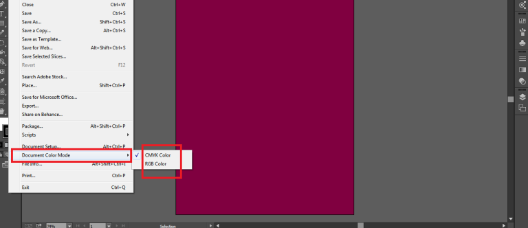 use document color mode