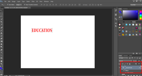 Text on Canvas (smart object in photoshop)