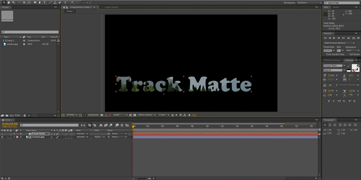 Track Matte Text 1