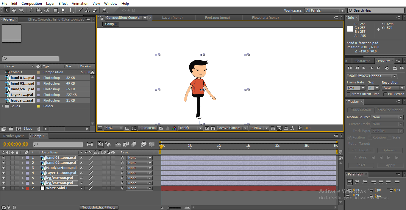 white background - 2D After Effects Animation