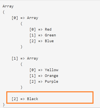 2D arrays in PHP output 4