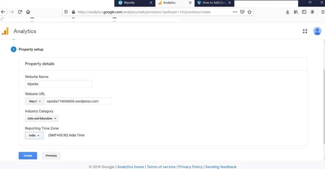Add Google Analytics to WordPress-1.3