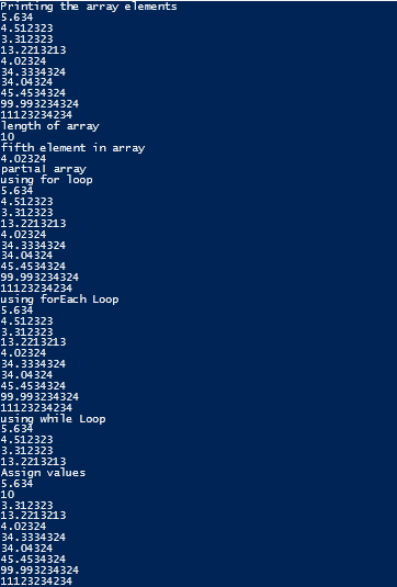 Array in PowerShell 1-9