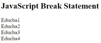 Break Statement in JavaScript-1.4