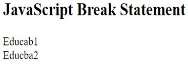 Break Statement in JavaScript-1.5