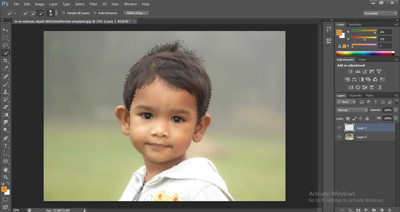 Change Hair Color in Photoshop 1-11